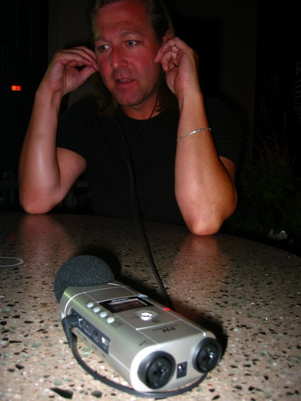 Soul Amp's Brad listening to Zoom H4...soul-amp.com