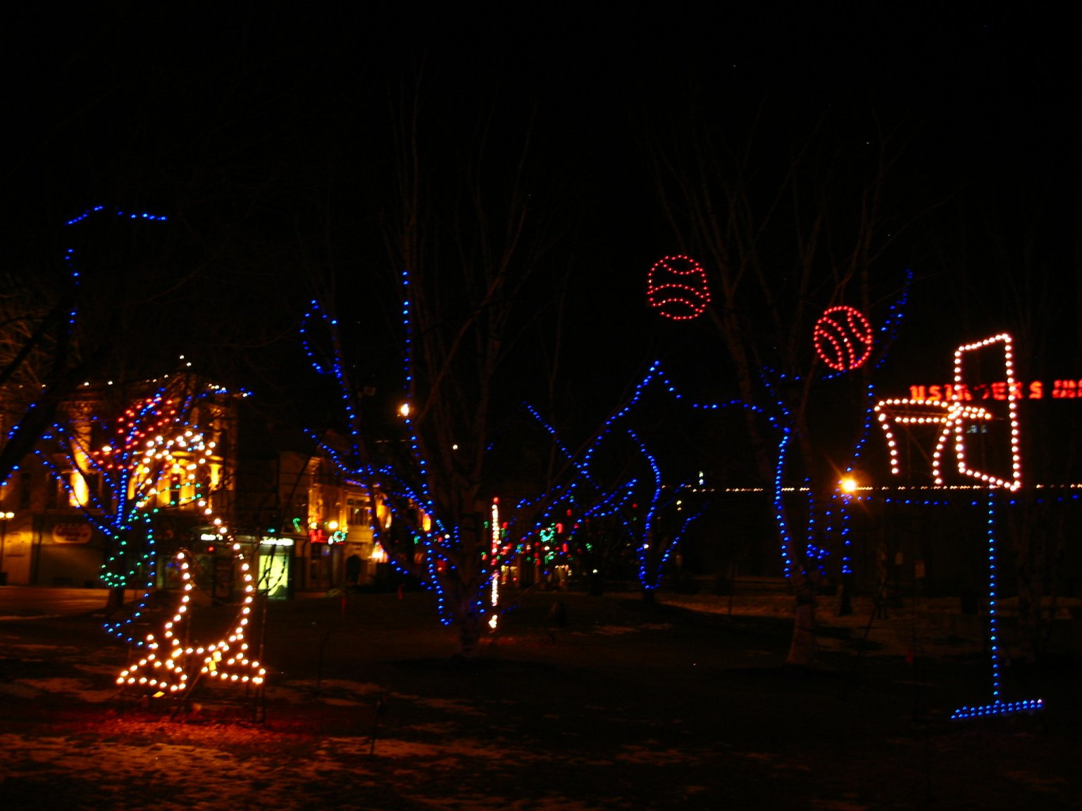 Milwaukee Holiday Lights on Christmas Day - Dec 25, 2007 - photo by Mike Fisk -- soul-amp.com